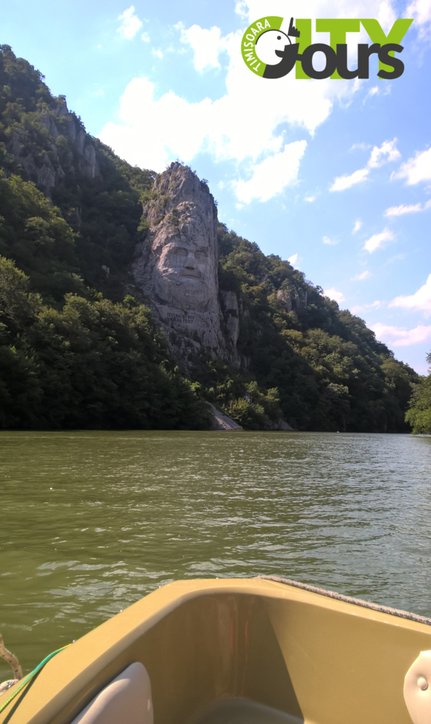 decebal s face on danube
