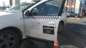private taxi (no label) in Timisoara airport